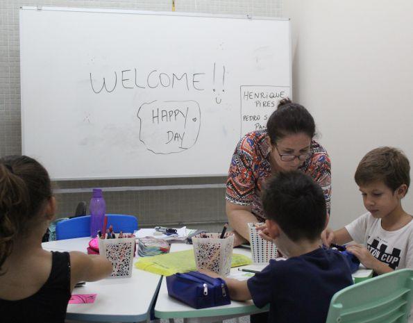 Aula no Centro de Idiomas