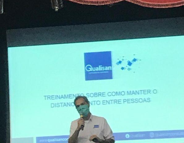 Treinamento com a empresa Qualisan